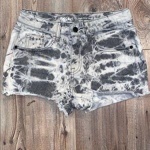 Mossimo tie dye denim shorts